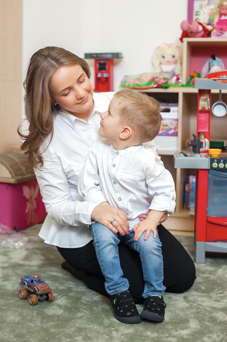 Olga Socolova şi fiul Maxim