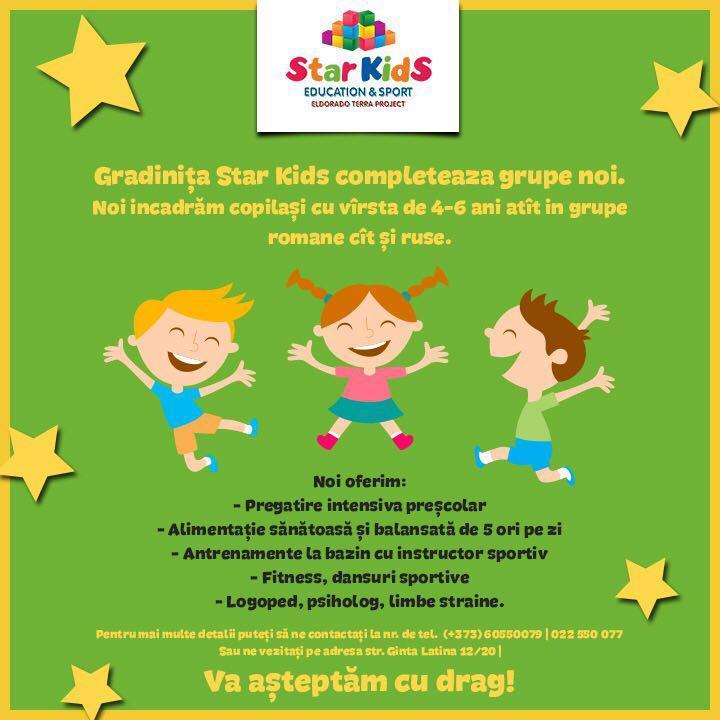Star Kids Education & Sport объявляет новый набор в группы