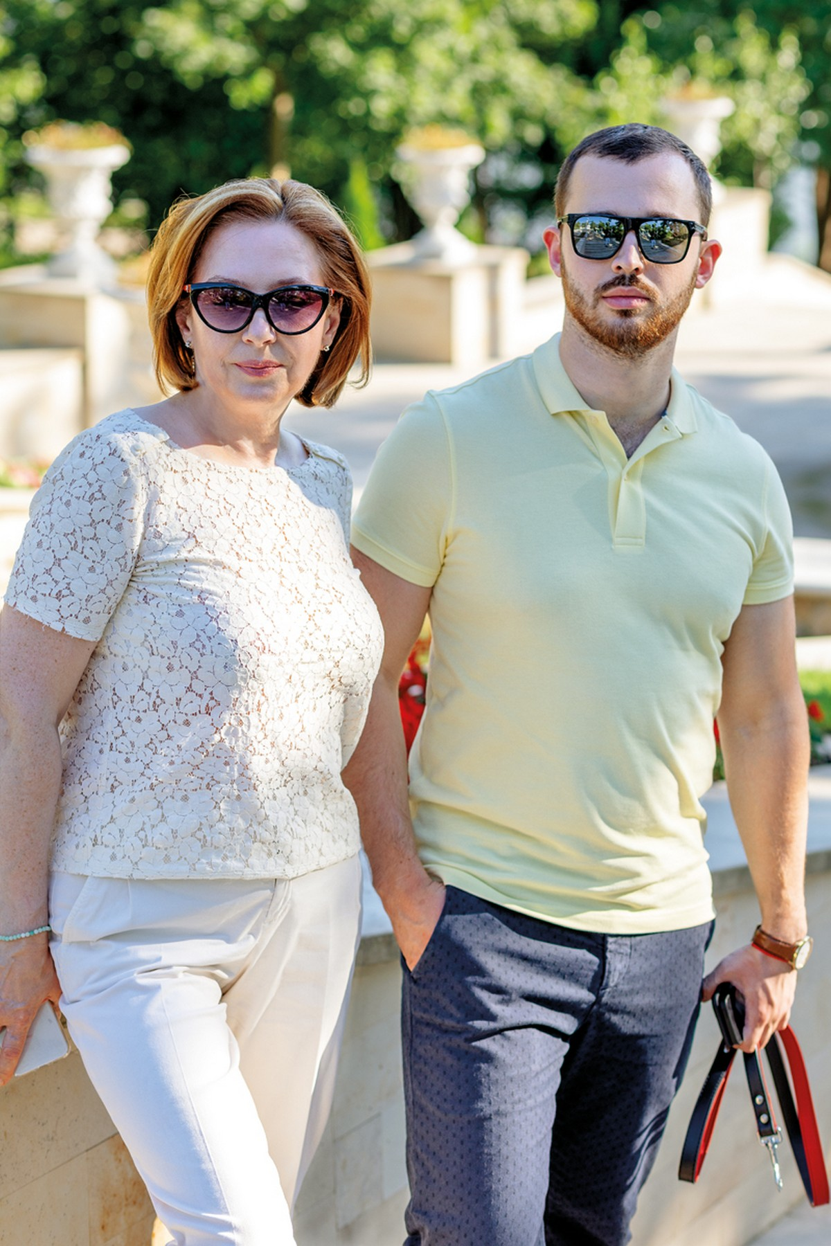 Ольга Попушой с сыном