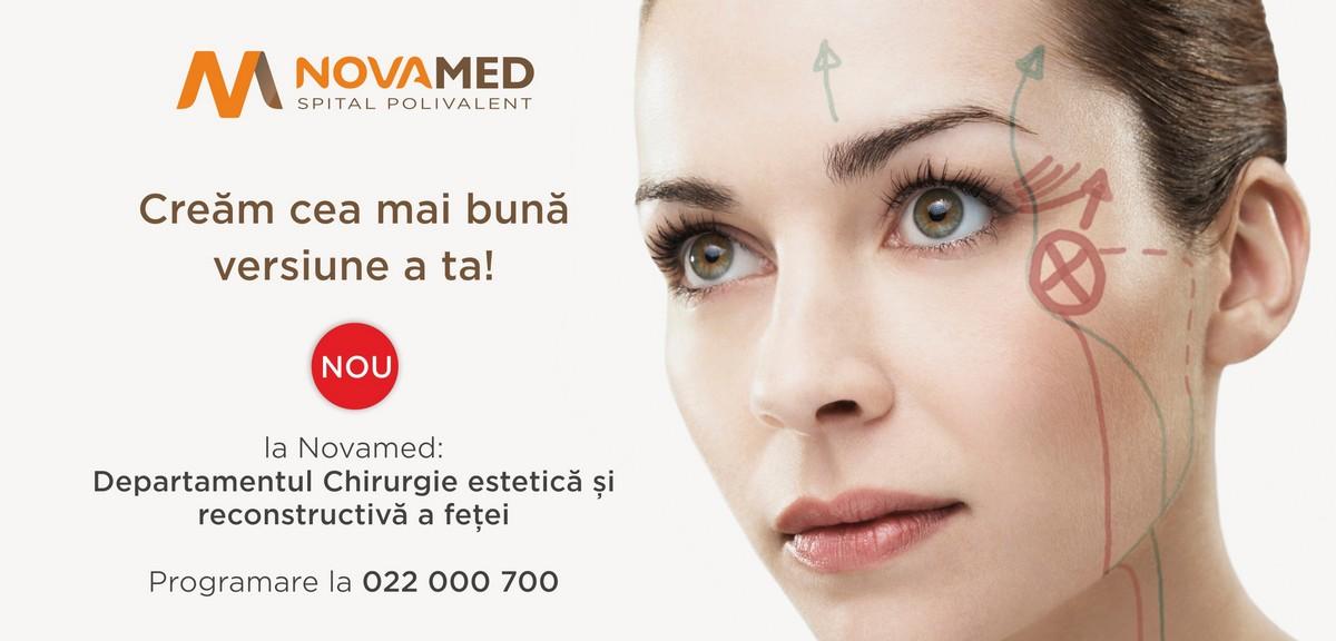 Novamed: Departamentul Chirurgie estetică și reconstructivă a feței
