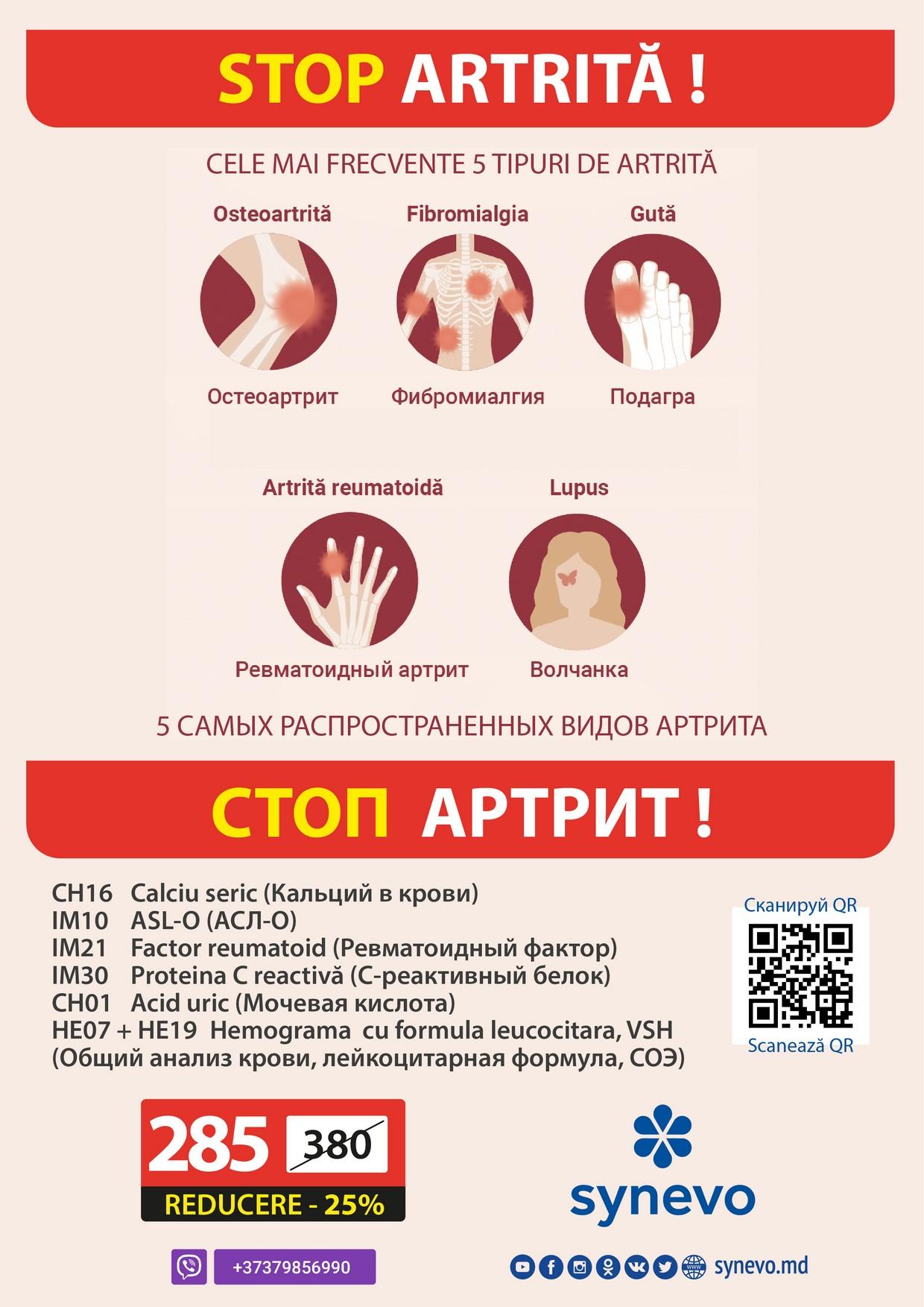 synevo - стоп артрит!