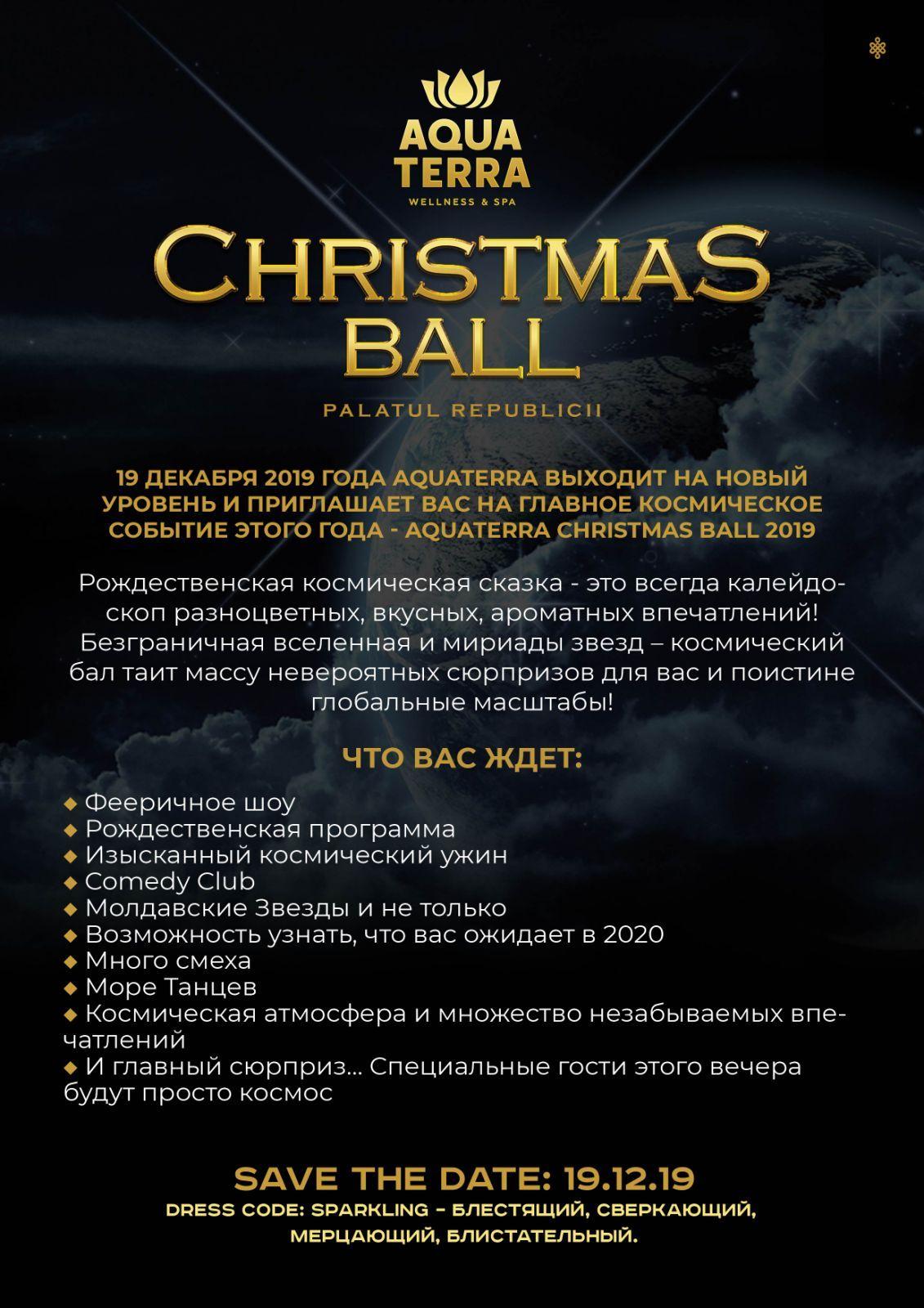 aquaterra рождественский бал